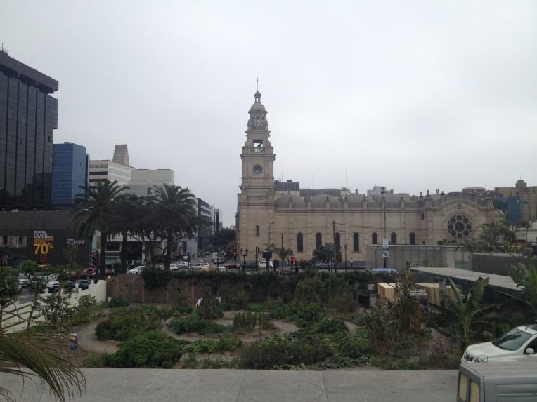 garden and church