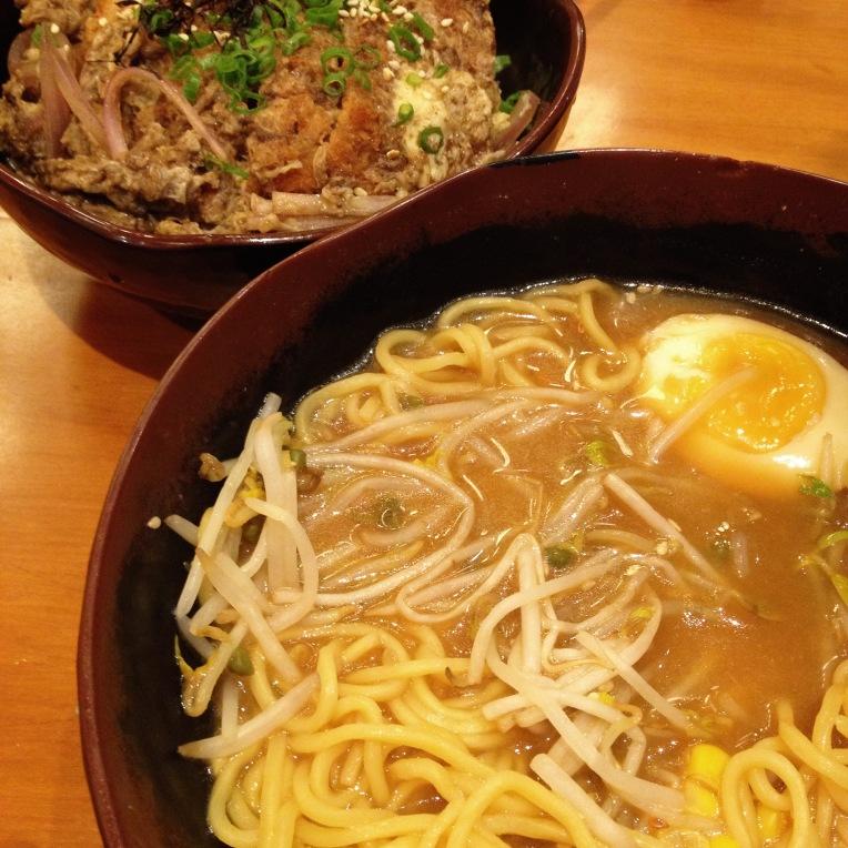 ramen and katsudon