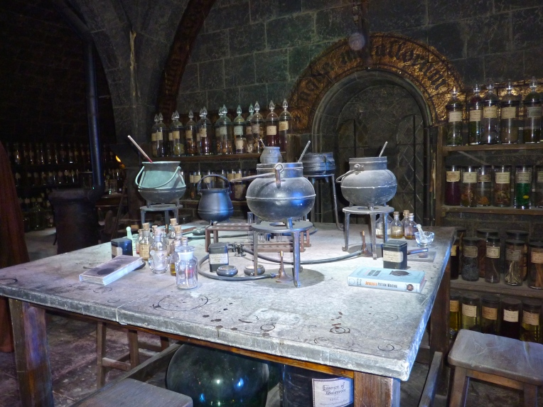 cauldrons in potions lab