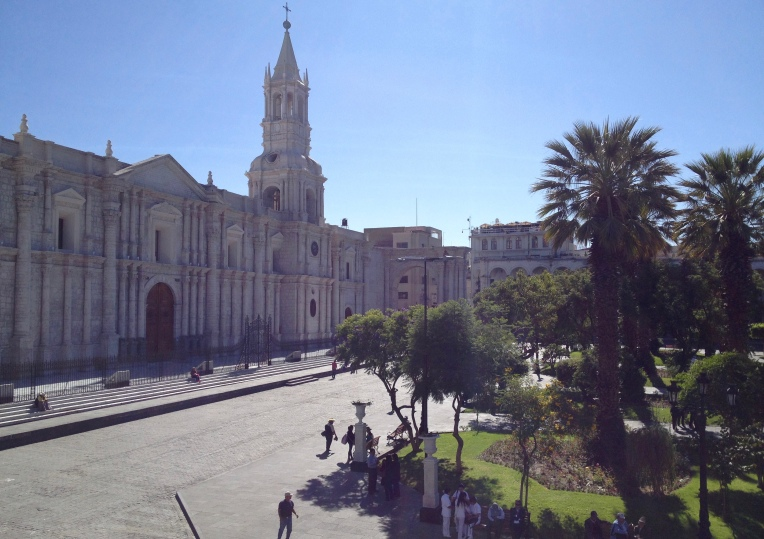 Arequipa plaza // A Slice of Peru