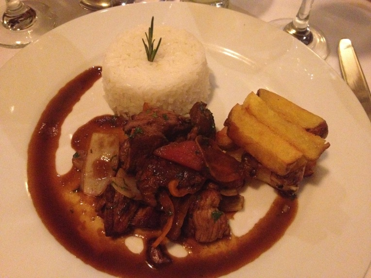 alpaca lomo saltado - Colca Lodge // A Slice of Peru