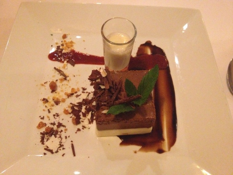 triple chocolate dessert - Colca Lodge // A Slice of Peru