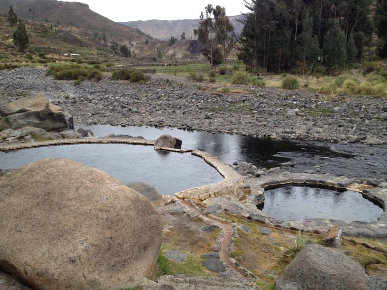 hot springs in the rain // A Slice of Peru