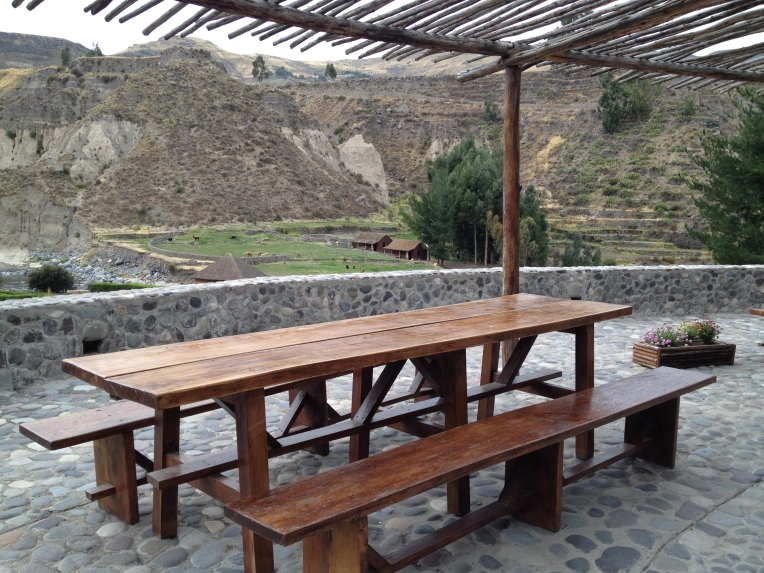 terrace - Colca Lodge // A Slice of Peru
