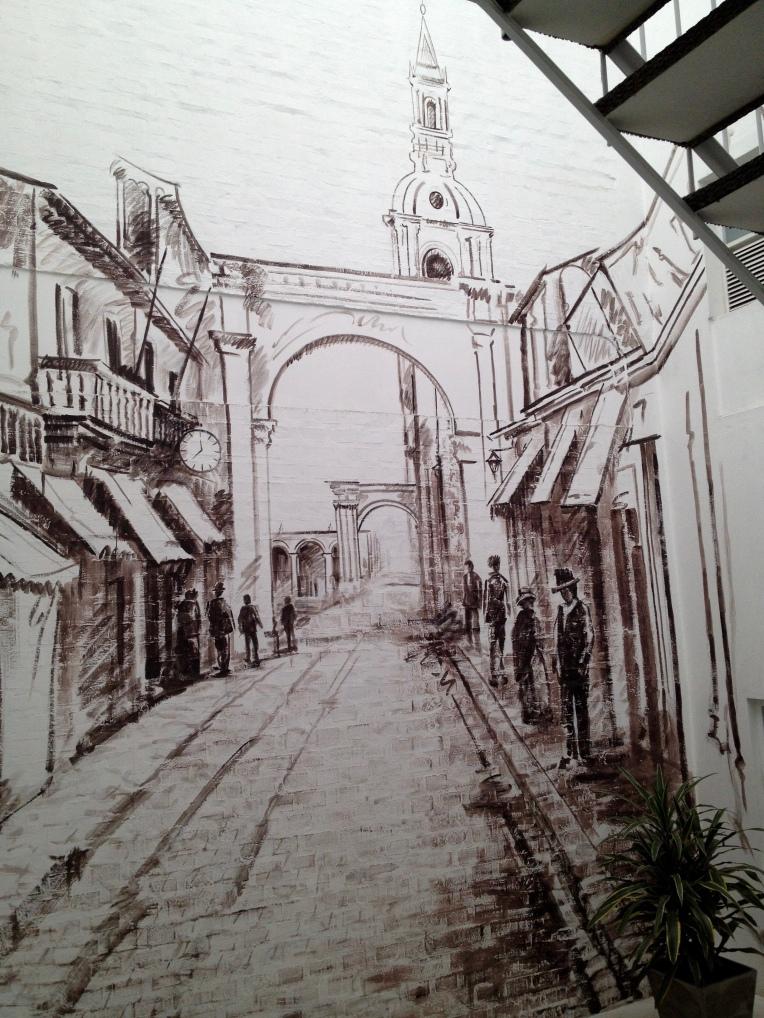 sketches in La Plaza Boutique // A Slice of Peru