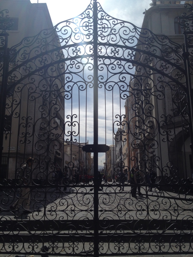 Gates of the basilica Arequipa // A Slice of Peru