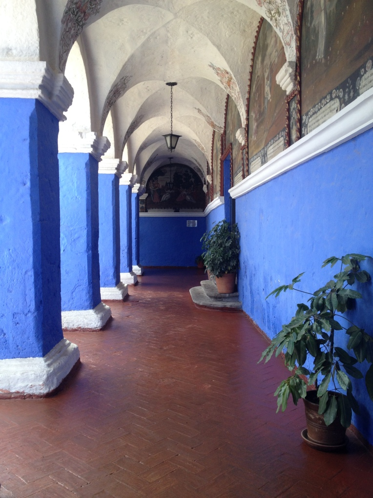 blue walls, Santa Catalina Monastery, Arequipa // A Slice of Peru