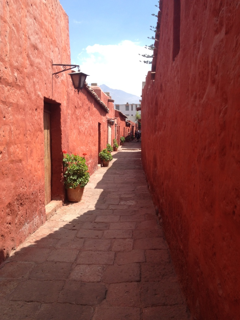 red walls, Santa Catalina Monastery, Arequipa // A Slice of Peru