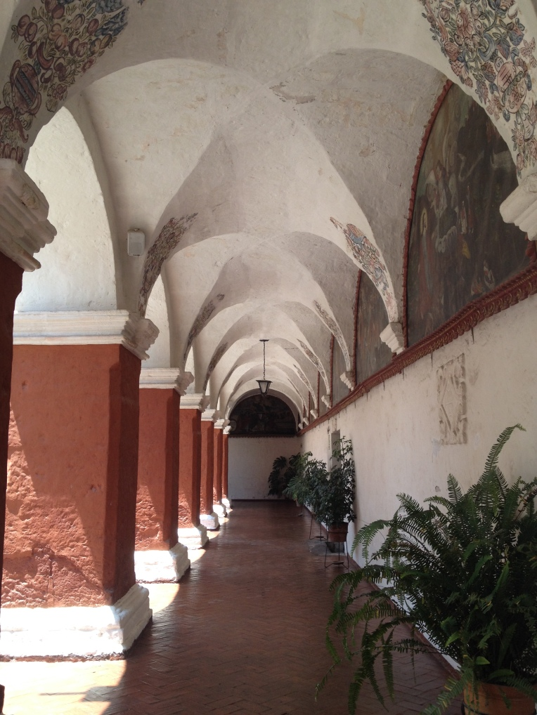 paintings on the walls, Santa Catalina Monastery, Arequipa // A Slice of Peru