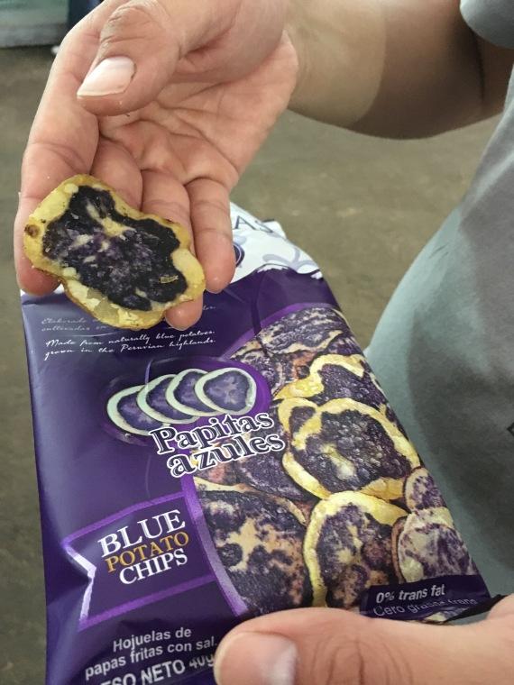 purple potato crisps // A Slice of Peru