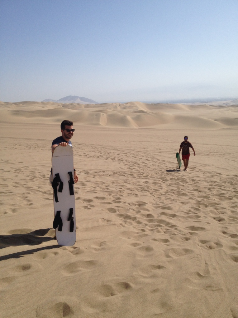 sand boarding, Huacachina // A Slice of Peru