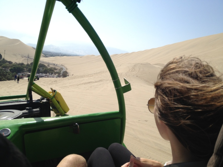 dune buggy, Huacachina // A Slice of Peru