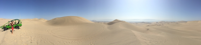 panorama, sand dunes, Huacachina // A Slice of Peru