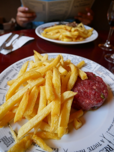 beef tartar - Bistrot Victoires, Paris // The Little Edition