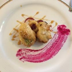 stuffed courgette flower, L'Antica Trattoria, Sorrento // The Little Edition